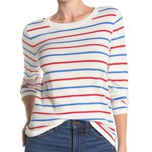 J. Crew BNWT ivory pullover sweater stripes NEW